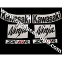 Autocollants - Stickers KAWASAKI ZX-10R année 2008 version orange