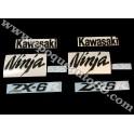 Autocollants - Stickers KAWASAKI ZX-6R année 2005 version vert