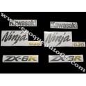 Autocollants - Stickers KAWASAKI ZX-6R année 2006 version noir